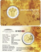 2 EURO / 100th anniversary of the Baltic States / BU