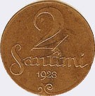 2 centimes (1922–1932)