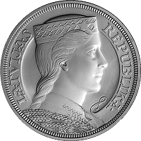 5-lats Silver Collector Coin